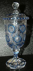 Enameled and Engraved Goblet and Cover; C 1850