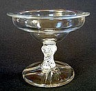 English Glass Opaque Twist Sweetmeat  C 1760