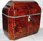 Gorgeous English Tortoiseshell Tea Caddy  c1825