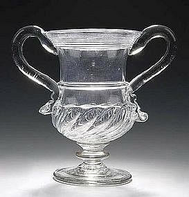 Monumental English Glass Drinking Vessel; c 1750