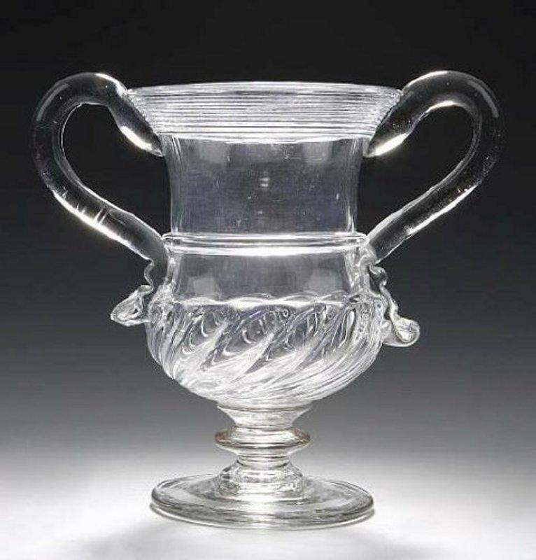 Monumental English Glass Drinking Vessel; c 1750