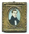 Charming American Miniature Painting; c 1820