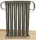 Rare Paint Decorated Tinware Candle Mold; c 1825
