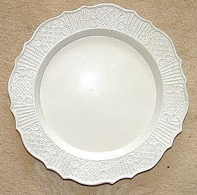 A Wonderful English Molded Saltglazed Plate; c 1760