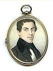 Fine Miniature Portrait Painting; c 1830