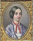 Miniature Painting of Young Girl, NY c 1861