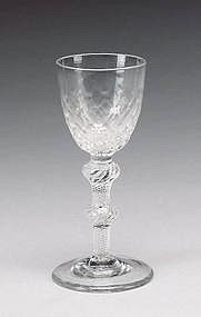 Antique Wine Glass, MSAT c 1755