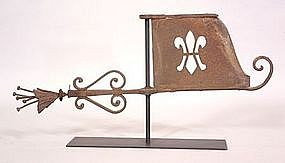 Wonderful Banneret Weathervane, 19th C