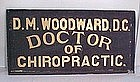 Chiropractor Smalt Trade Sign c 1895