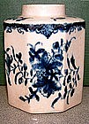 Rare Lowestoft Tea Caddy  c 1765