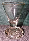 Dram Glass with Flanged Firing Foot  c1745