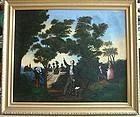 Important Folk Art Temperance Painting Neal Dow c1840