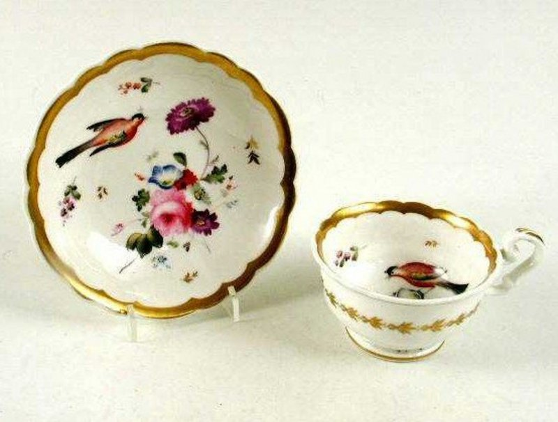Beautiful Porcelain Teacup and Saucer   c1825