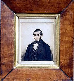 Henry Walton Small Watercolor Portrait   c1842