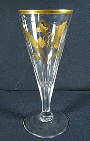 James Giles Gilded Ale Glass  c1770