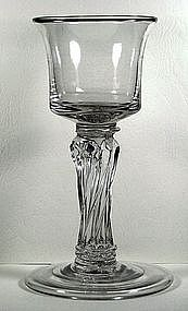 A Very Rare English Wine Goblet   c1745