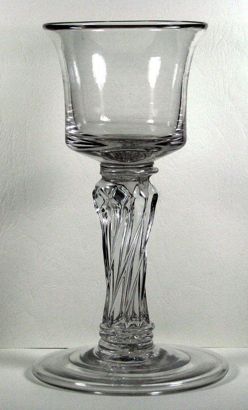 A Very Rare English Wine Goblet   c1745