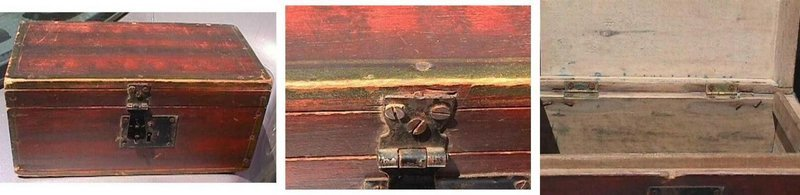 Grain Painted Document Box  NY State  c1840