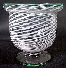 American South Jersey Glass Sugar Bowl  c1850