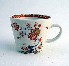 Rare Bow Porcelain Bucket Shaped Cup  c1756