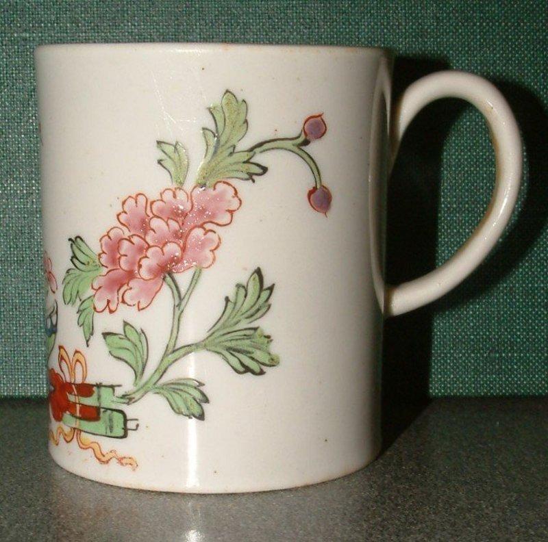 Samuel Gilbody Liverpool Porcelain Mug  c1757 Perfect