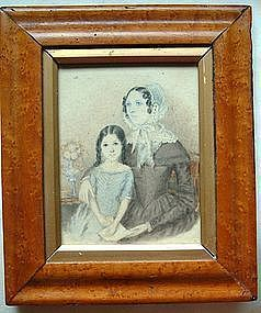 Portrait of Mother and Daughter  c1830