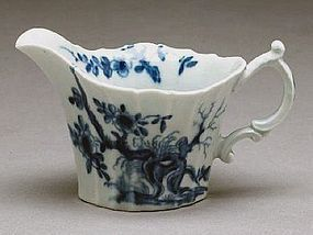 Rare Dr. Wall Worcester Cream Boat  c1755