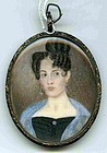 Rare Emanuel Reynolds Miniature Portrait of Woman C1837