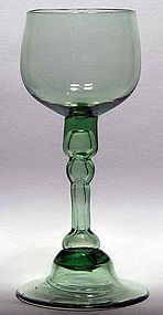 English Green Balustroid Drinking Glass  c1765