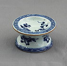 18C. Chinese Export Blue & White Porcelain Salt Cellar