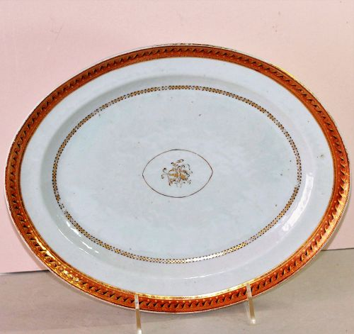 Chinese Export Porcelain Platter for American Market