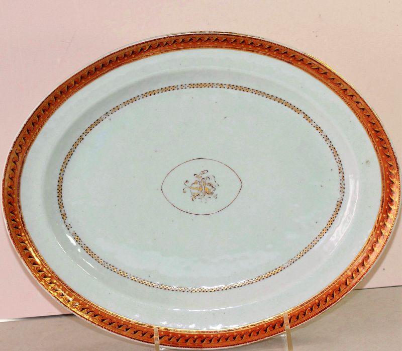 Chinese Export Porcelain Platter for American Market