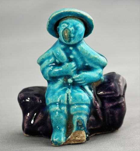 Chinese Pottery Figure with hat