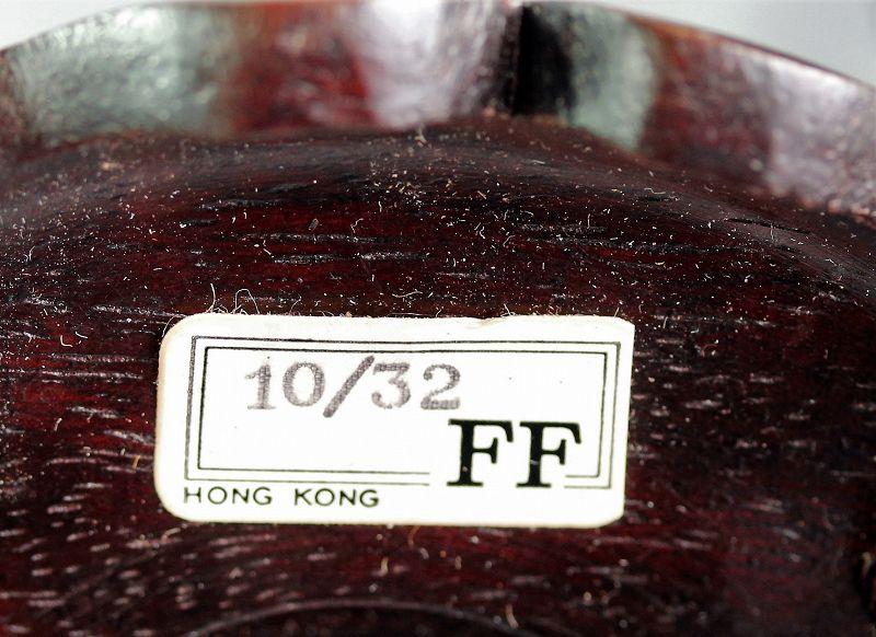 "Pair ""Hong Kong"" made Hardwood high leg Display Stands"