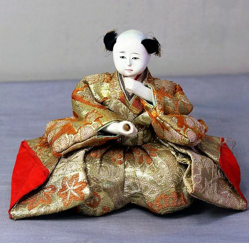 Japanese Doll, young boy with brocade silk garment