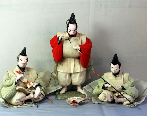 Japanese Hina Dolls, set of three(3)