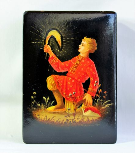 "Russian Lacquer Box, dated & signed ""1973"" by artist"
