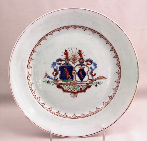 Chinese Export Armorial decorated Porcelain Plate