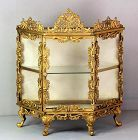 French Ormolu and Glass Display Vitrine