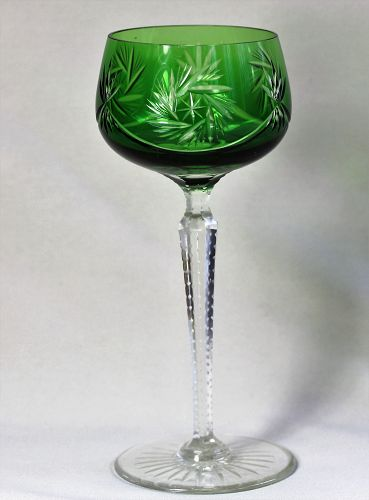 Bohemian crystal tall Wine Glass