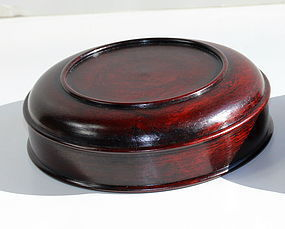 Chinese Hardwood Display Top for jar