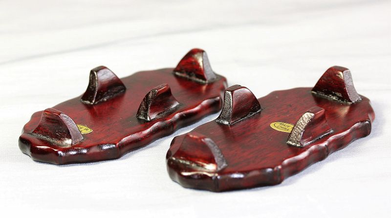 Two(2) Chinese Hardwood small Display Stands