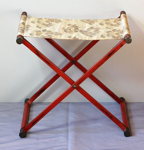 Japanese red Lacquer Obi folding Stand
