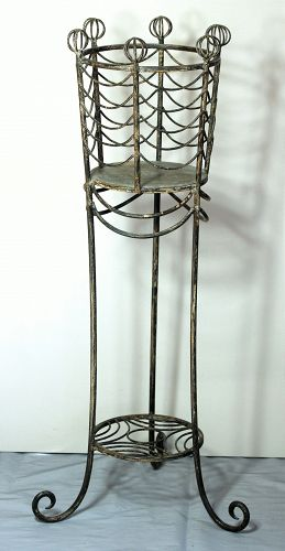 Gray painted Metal Plant Stand