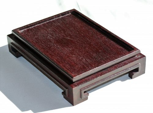 Chinese Hardwood rectangle shape Display Stand, made in Hong Kong
