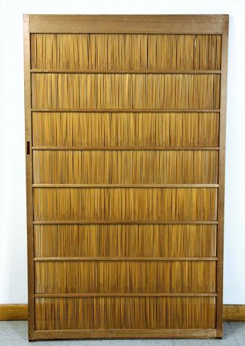 Japanese Reed and Kiri wood frame Sliding Door
