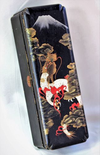Japanese crushed Egg Shell inlaid on Lacquer Document Box