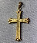 Victorian Gold Cross Pendant