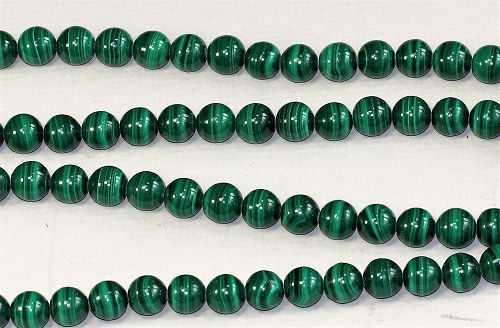 Natural Malachite Strand Necklace