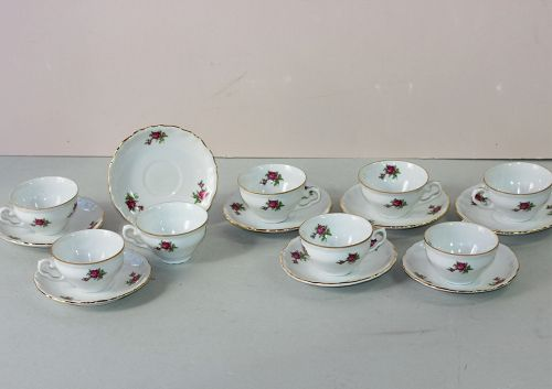 8 Czechoslovakia EPIAG Porcelain Demitasse cups & saucers